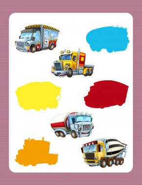 game for kids with colorful industry cars