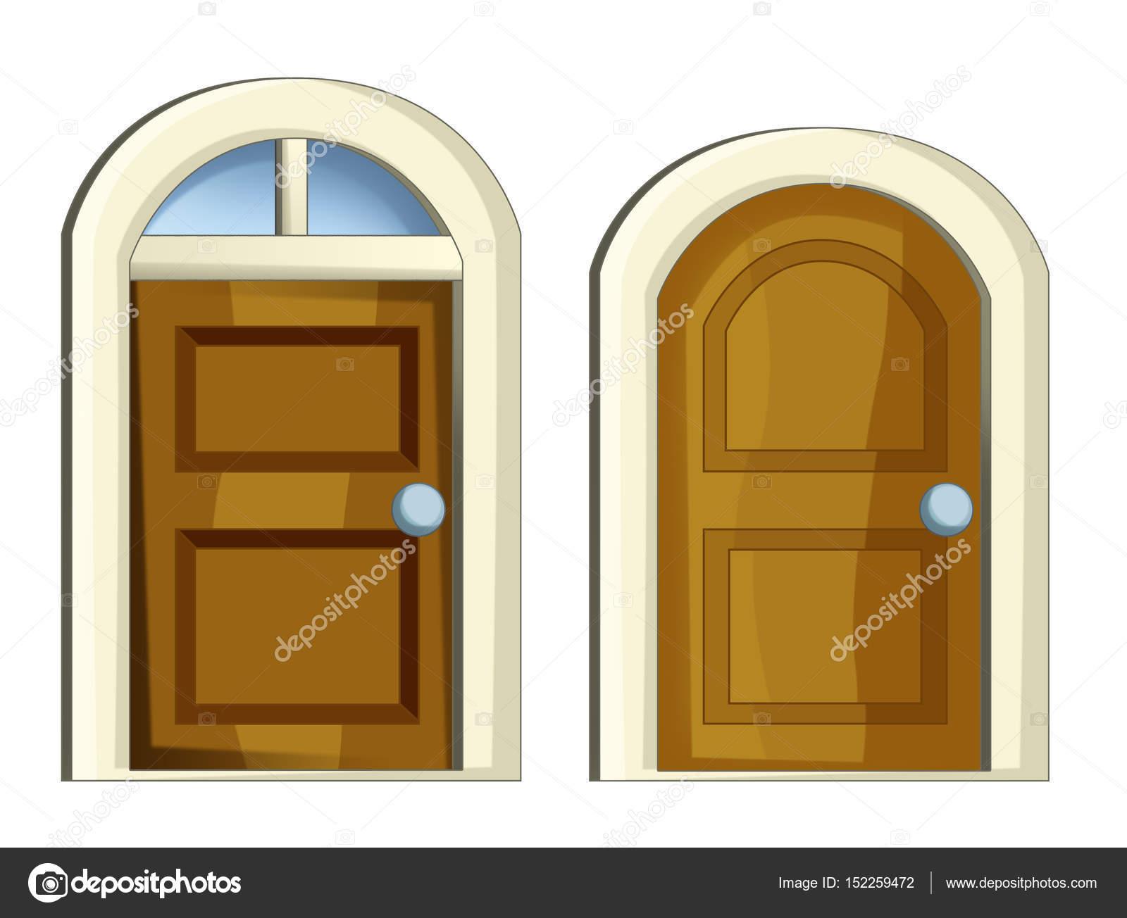 Conjunto de dibujos animados de puertas fotos de stock for Puerta en ingles
