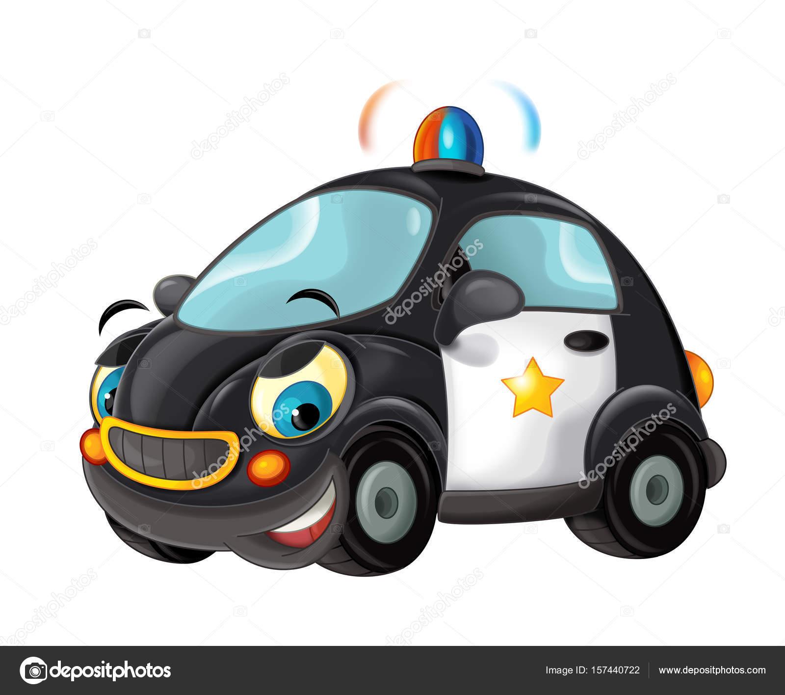 Kresleny Policejni Auto Stock Fotografie C Illustrator Hft 157440722