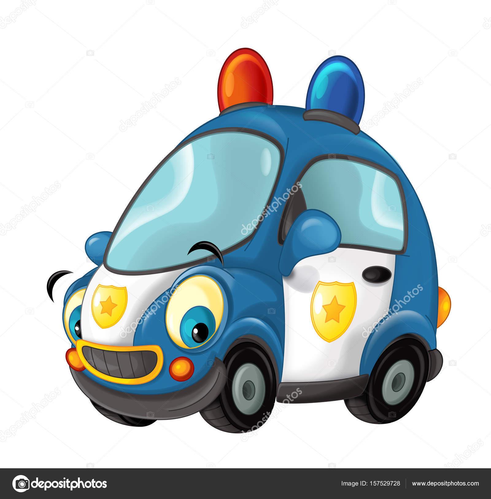 Kresleny Policejni Auto Stock Fotografie C Illustrator Hft 157529728