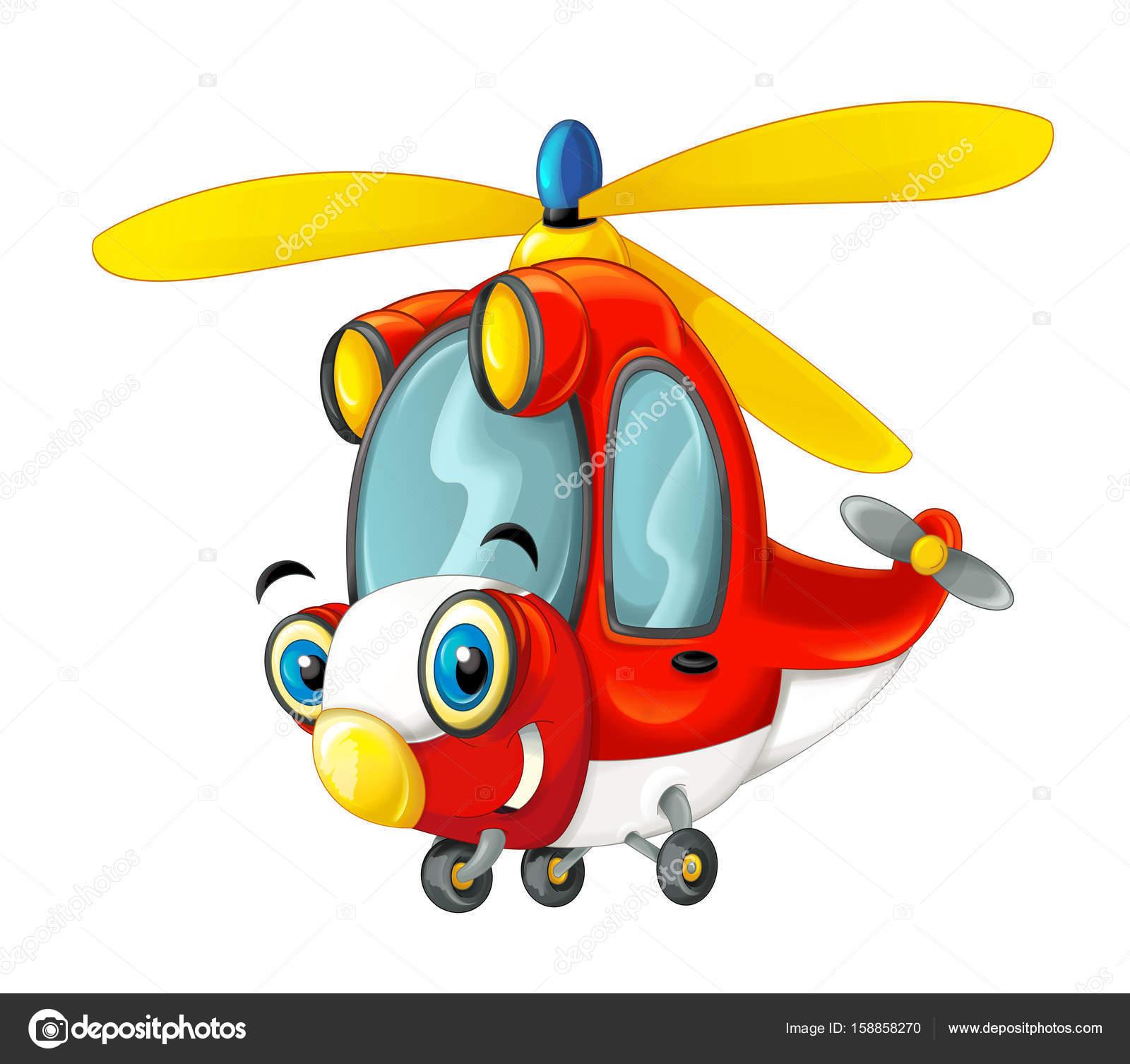 Hélicoptère De Pompier De Dessin Animé Photographie