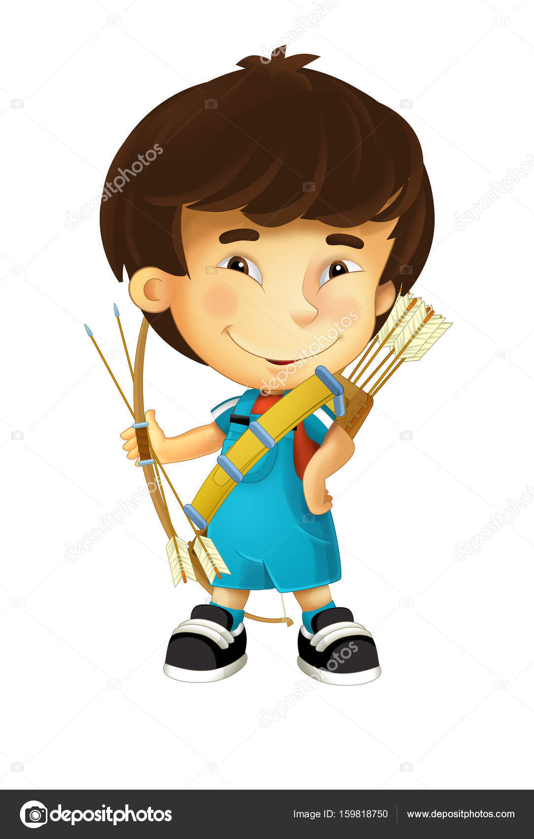 niño con arco y flechas - arquero — Foto de stock © illustrator_hft ...