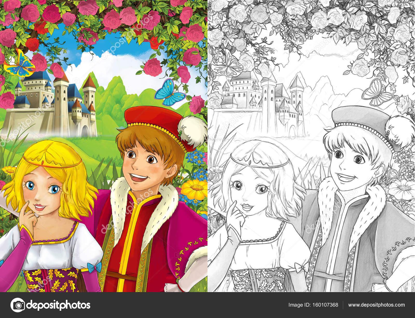 pareja amorosa - Príncipe y la princesa — Fotos de Stock ...