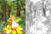 Niedliche Prinzen und Prinzen im Wald