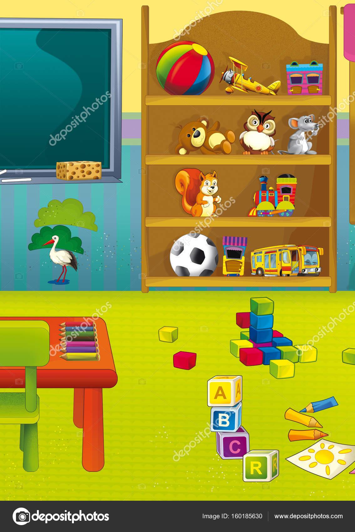 Escena de dibujos animados con el armario lleno de - Armarios para juguetes ...
