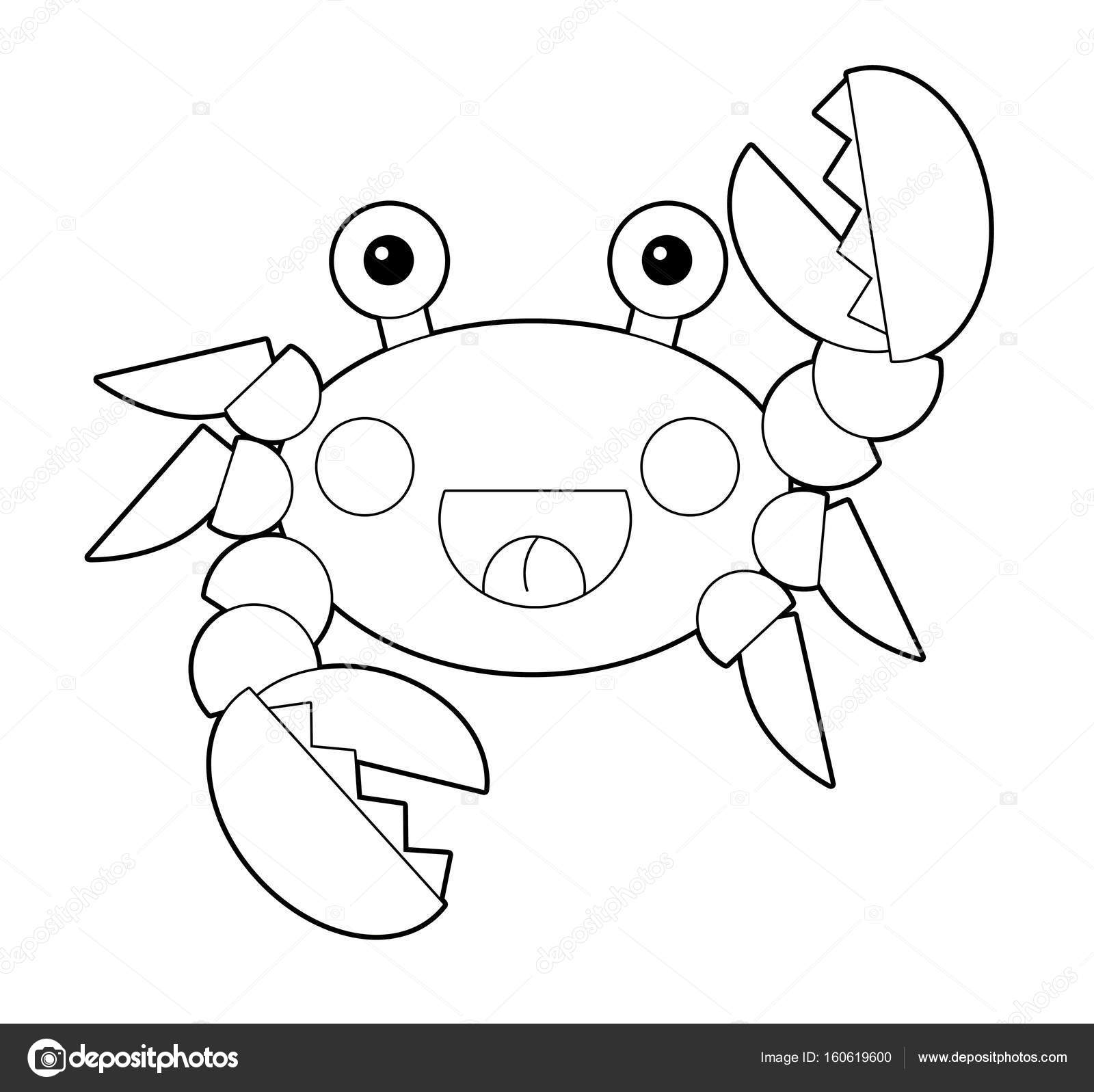 Cartoon-Meer-Krabbe mit Malvorlagen — Stockfoto © illustrator_hft ...