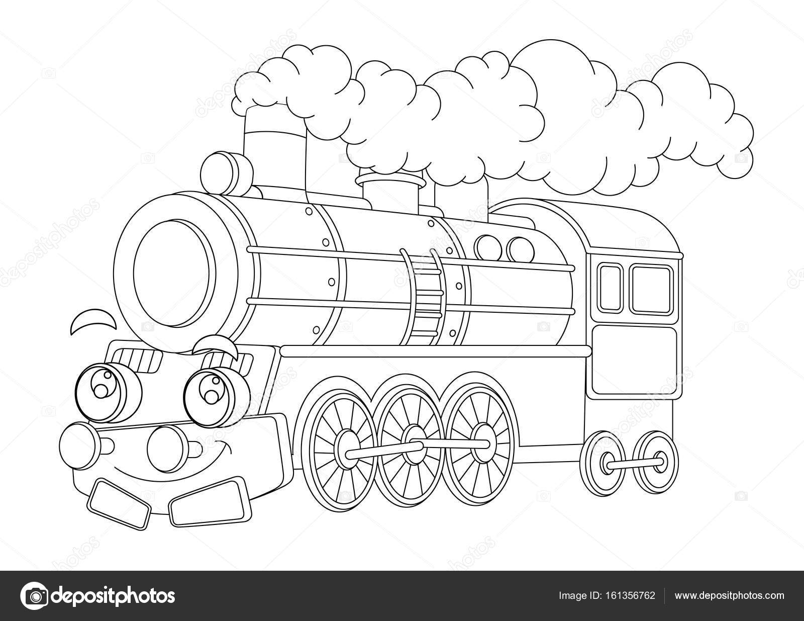 Dibujos Tren Caricatura Para Colorear Dibujos Animados Gracioso