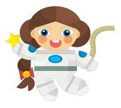 Kreslená postava - astronaut