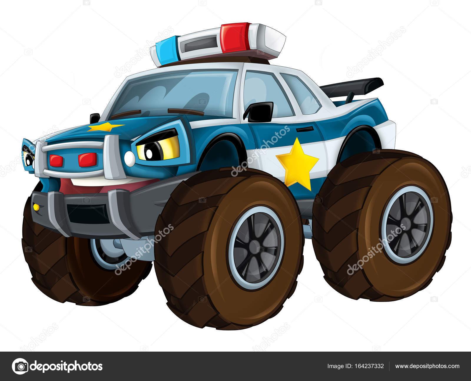 voiture de police ressemblant monster truck photographie illustrator hft 164237332. Black Bedroom Furniture Sets. Home Design Ideas