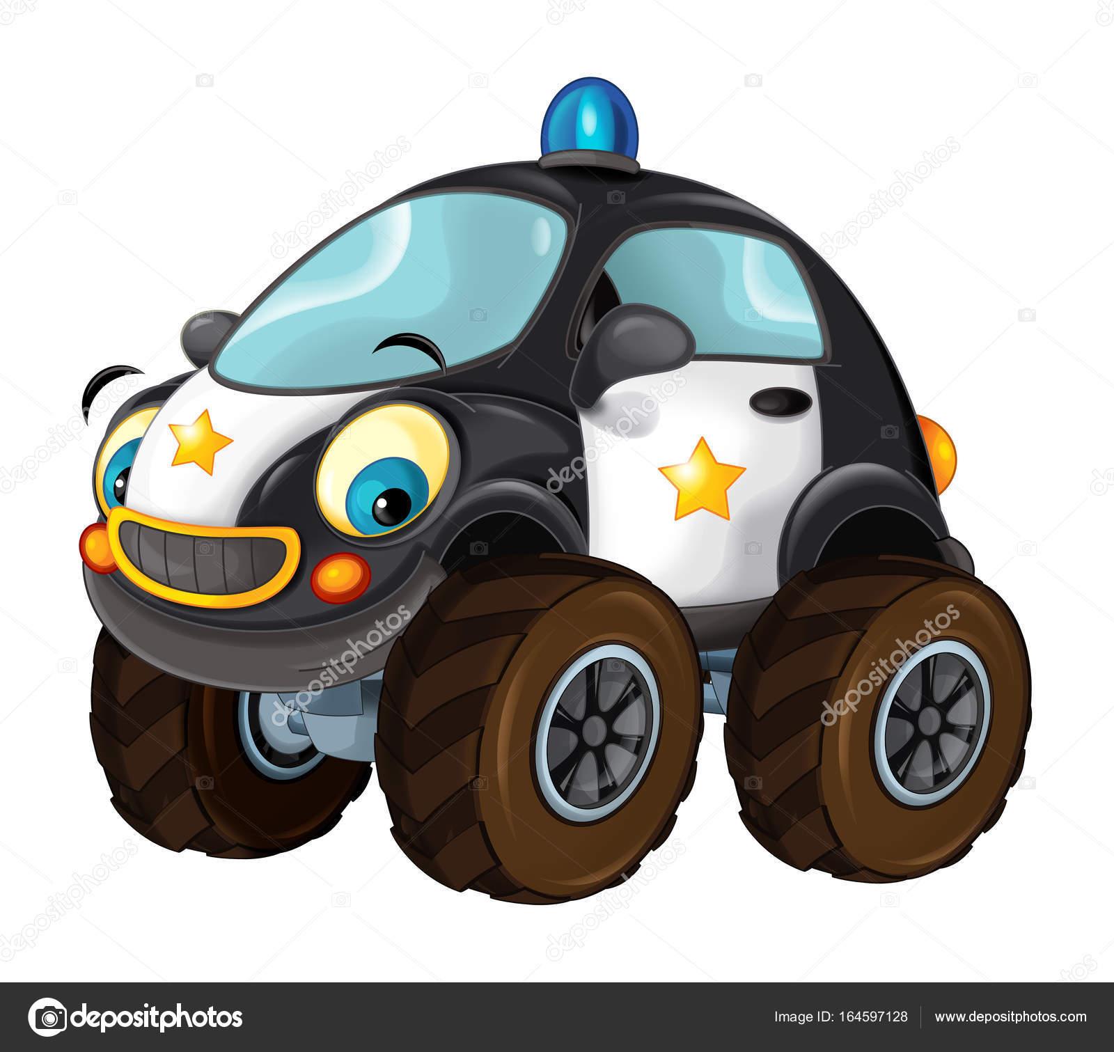 Dessin anim au large de la voiture de police route photographie illustrator hft 164597128 - Voiture police dessin anime ...