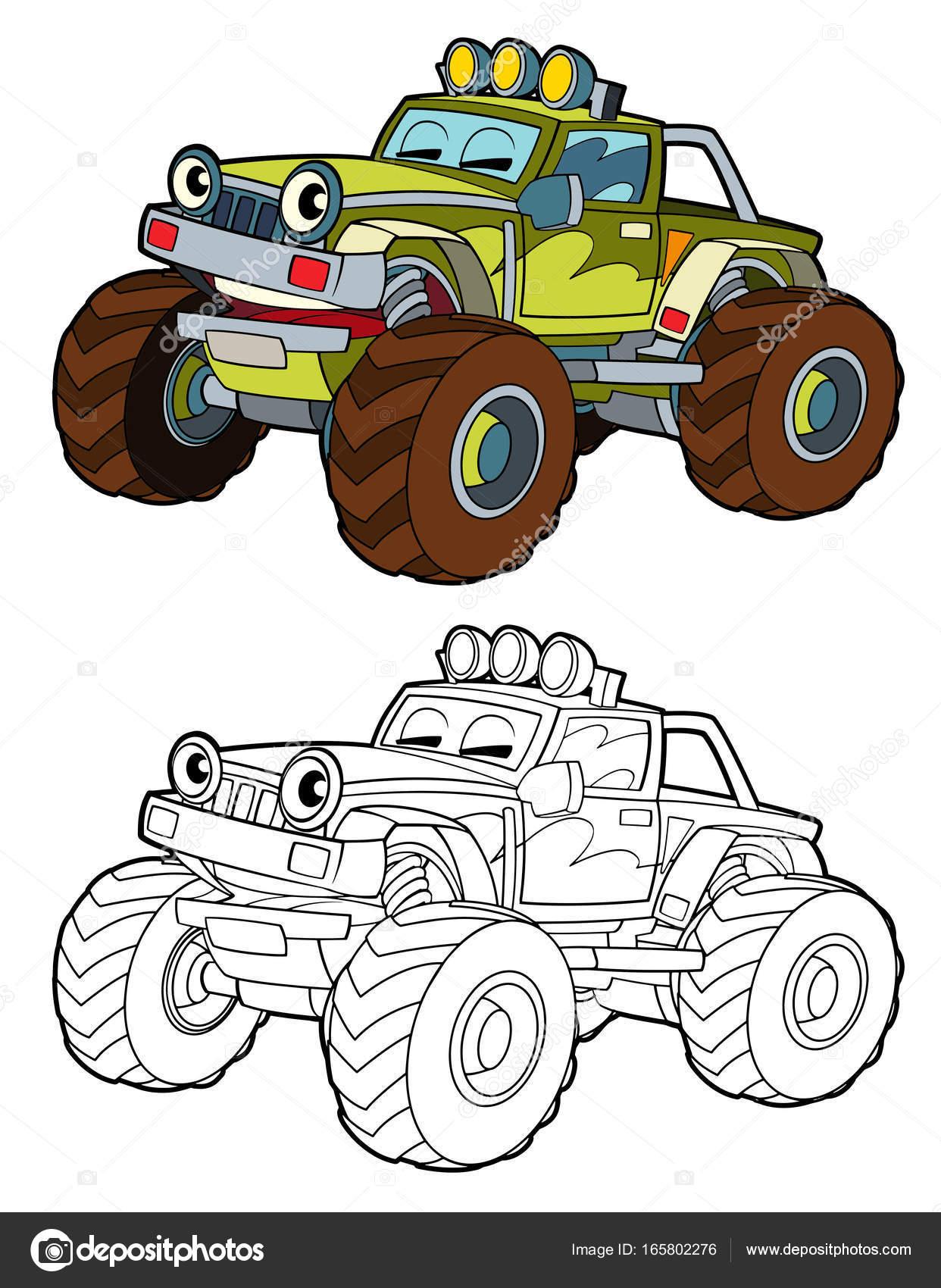 fuera de camiones por carretera militar — Foto de stock ...