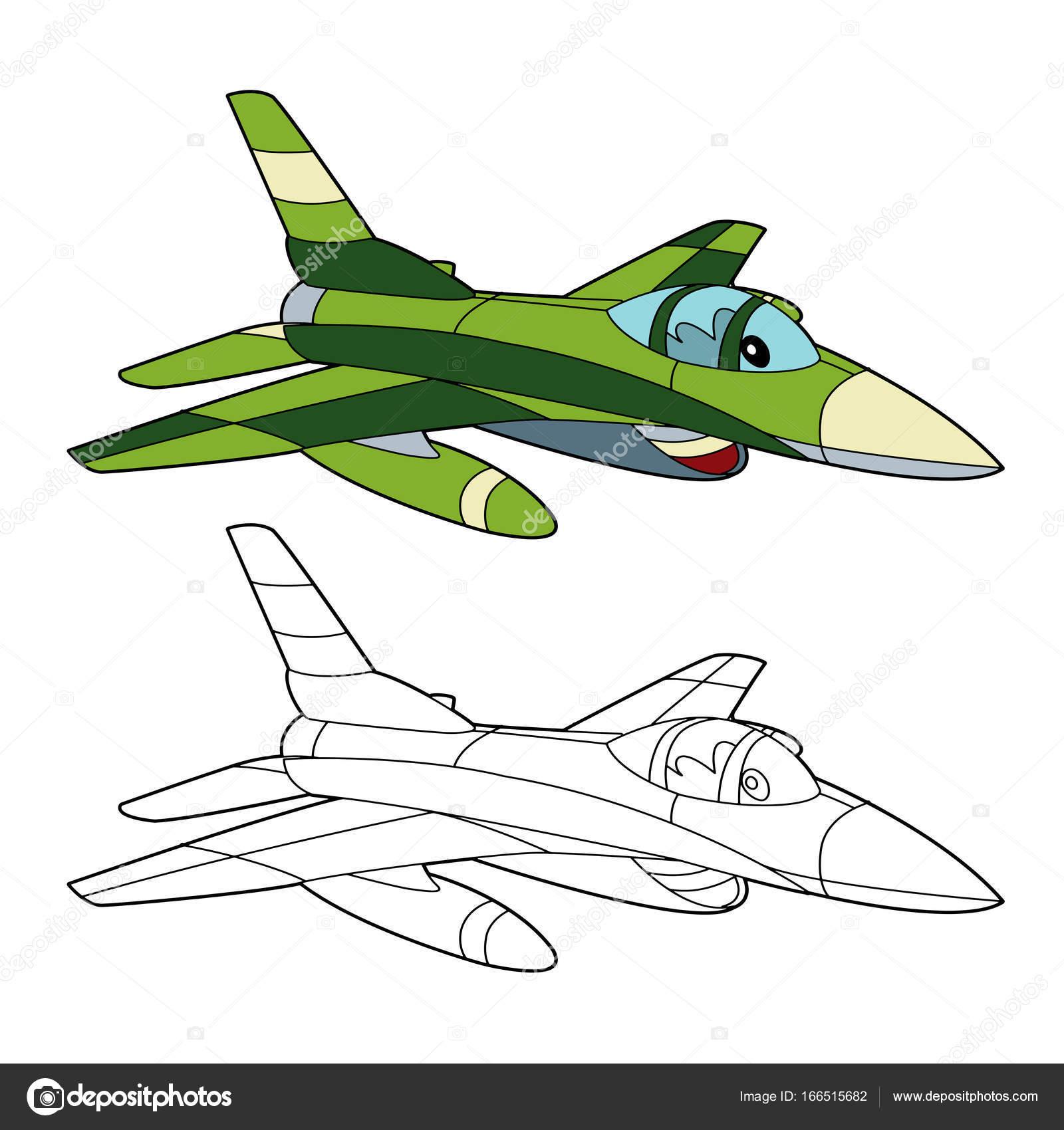 máquina militar combatiente de jet — Foto de stock © illustrator_hft ...