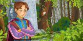Princ v lese nedaleko Zámecké věže