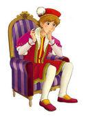 Fotografie Cartoon character - nobleman - prince - illustration for children