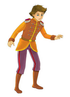Cartoon character - nobleman - prince - illustration for children