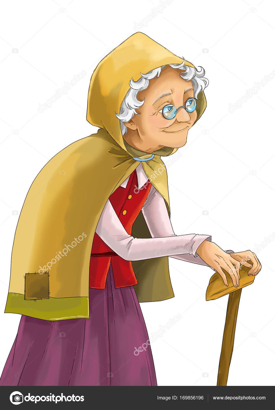 おとぎ話の漫画キャラの魔女や魔術師 イラスト子供のため ストック写真