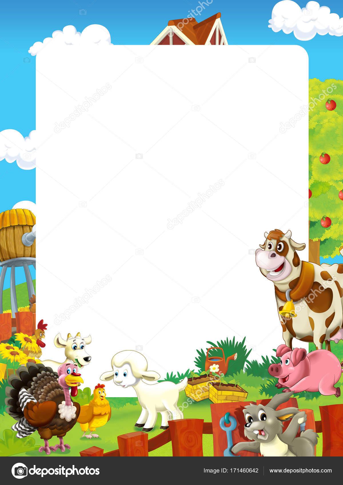 子供のためのファーム動物 さまざまな使用のフレーム イラスト漫画シーン