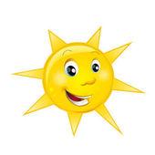kreslený scény s šťastný a zábavný slunce pro různé použití - ilustrace pro děti