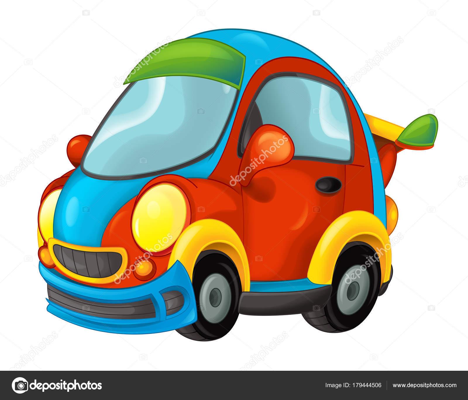Cartoon Lustig Aussehenden Auto Illustration Für Kinder Stockfoto