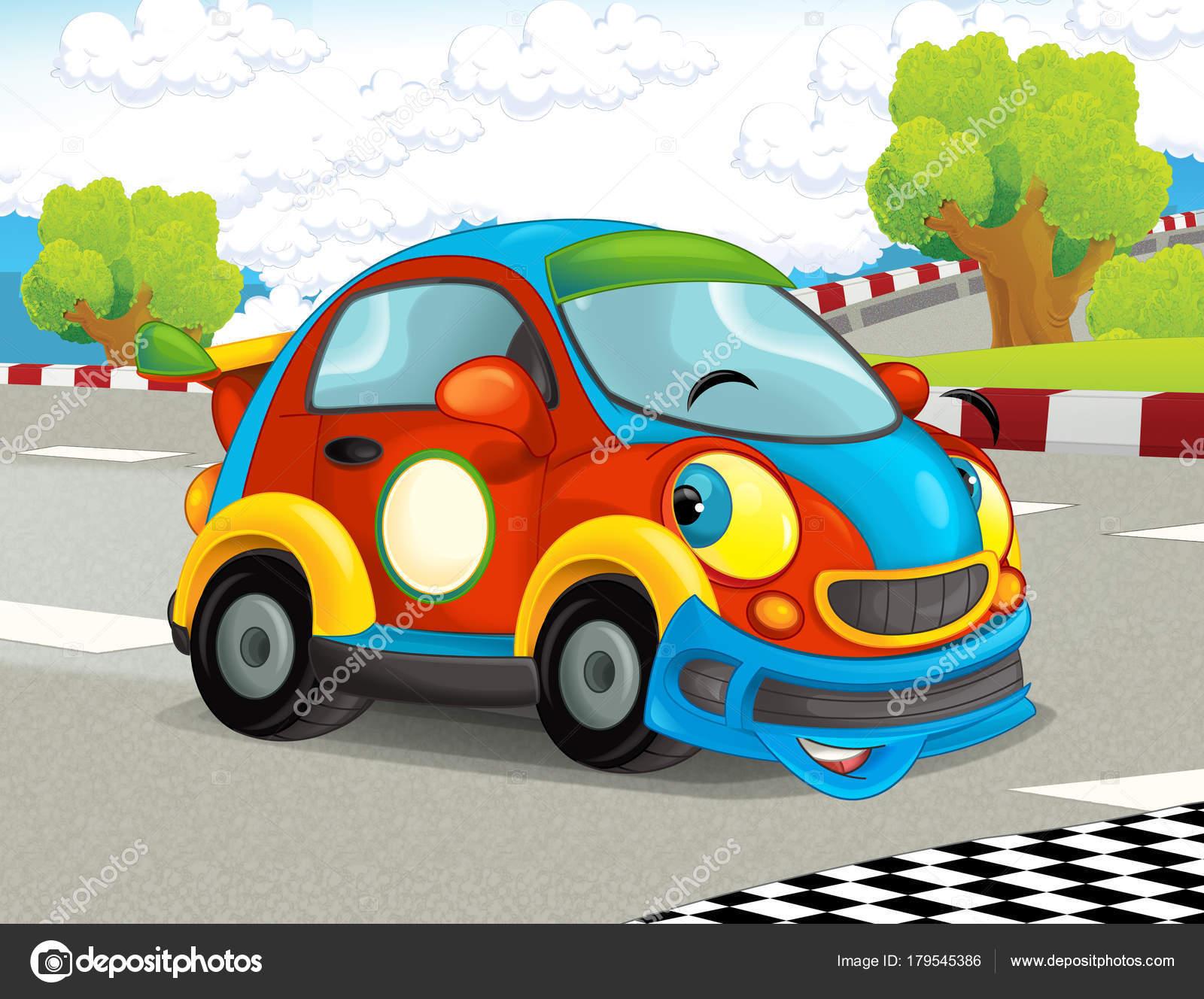 Dessin anim dr le joyeux recherche voiture course sur - Image voiture drole ...