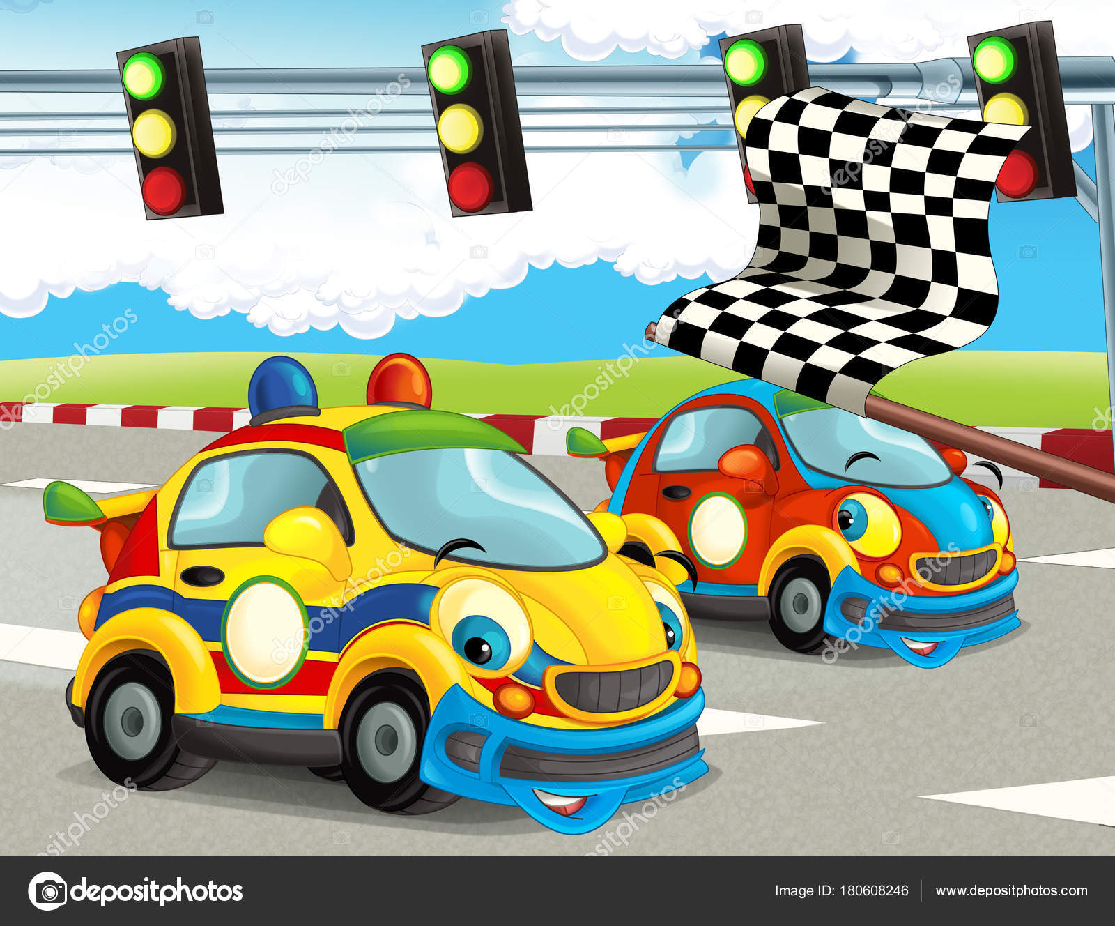 cartoon funny happy looking racing cars race track illustration children stock photo car show clip art for free classic car show clipart