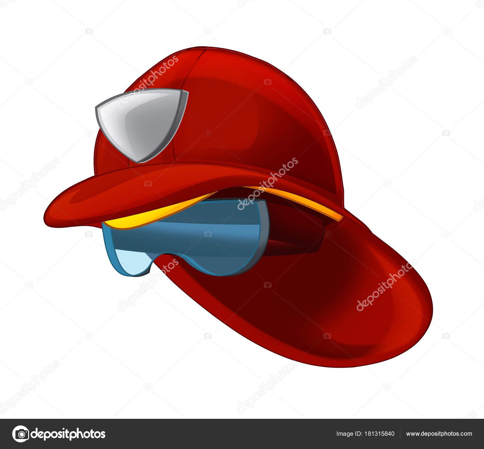 Sombrero de bombero de dibujos animados con gafas de protección -  ilustración para los niños — Foto de illustrator hft 3427ff7ee96