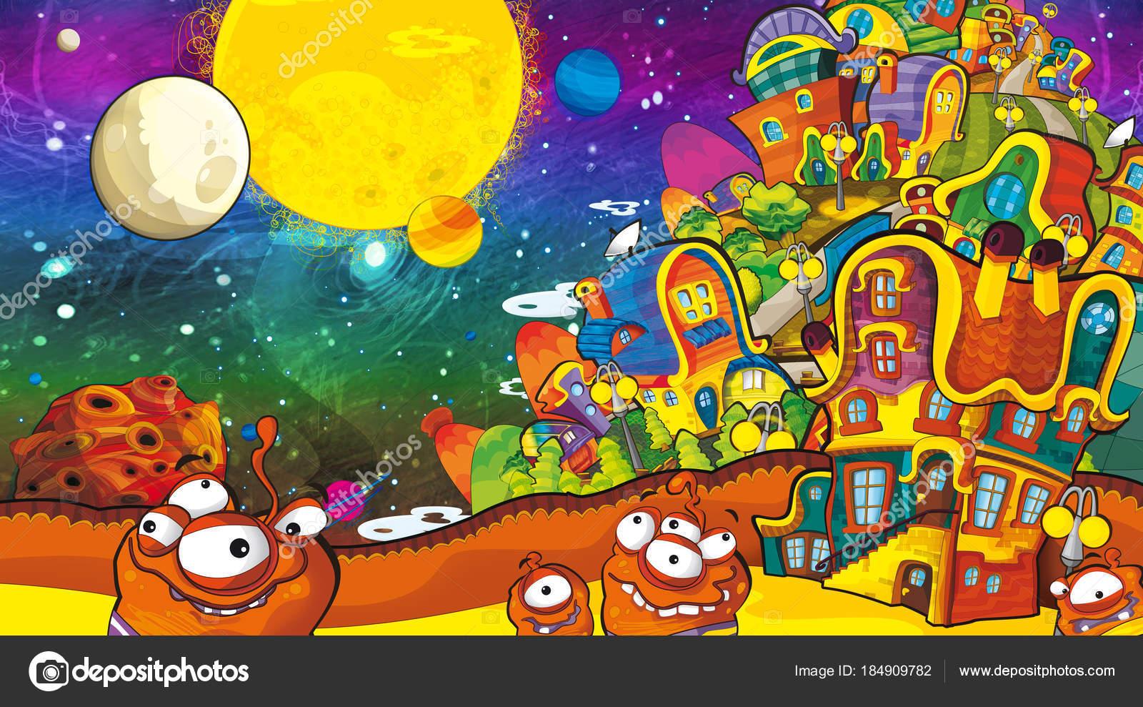 Scene dei cartoni animati con alcuni divertente guardare gli