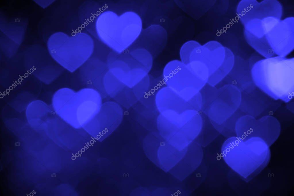 Dark Blue Heart Background