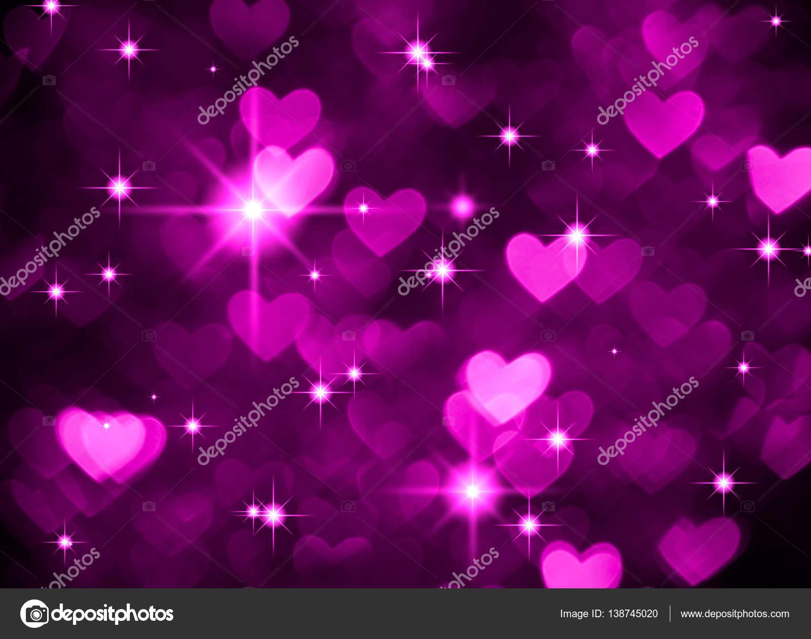 Photo du boke coeur fond, couleur violet foncé. Abstrait backdrop