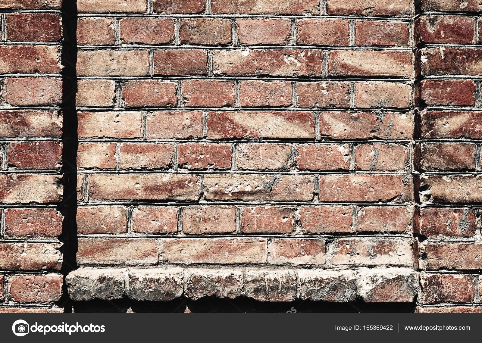 Vieux Mur De Briques Pour Le Fond Ou La Texture La Couleur Rouge Et
