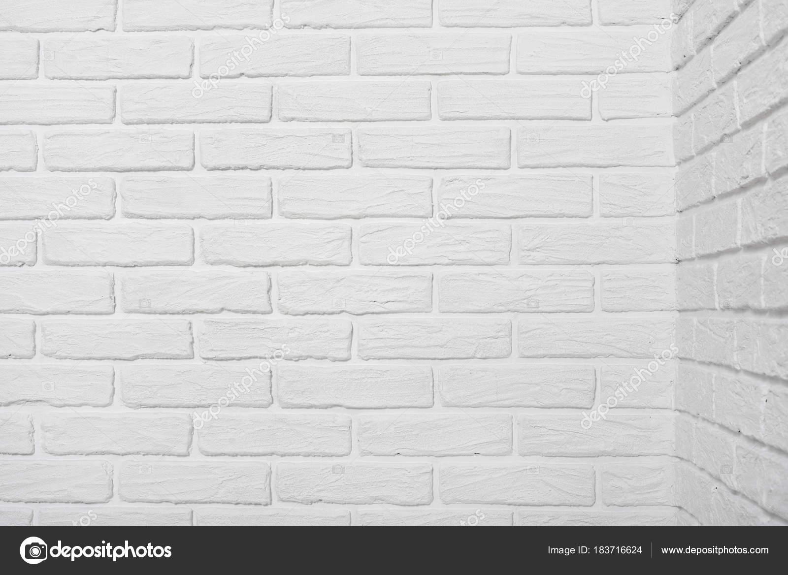 White Brick Wall Corner Abstract Background Photo Stock Photo
