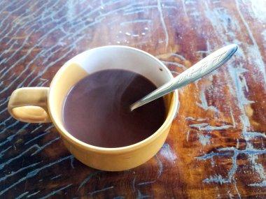 hot chocolate with smoke