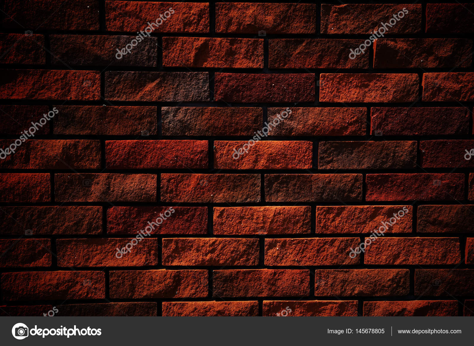 Dark Red Brick Wall For Textured Background Photo By Blanscape