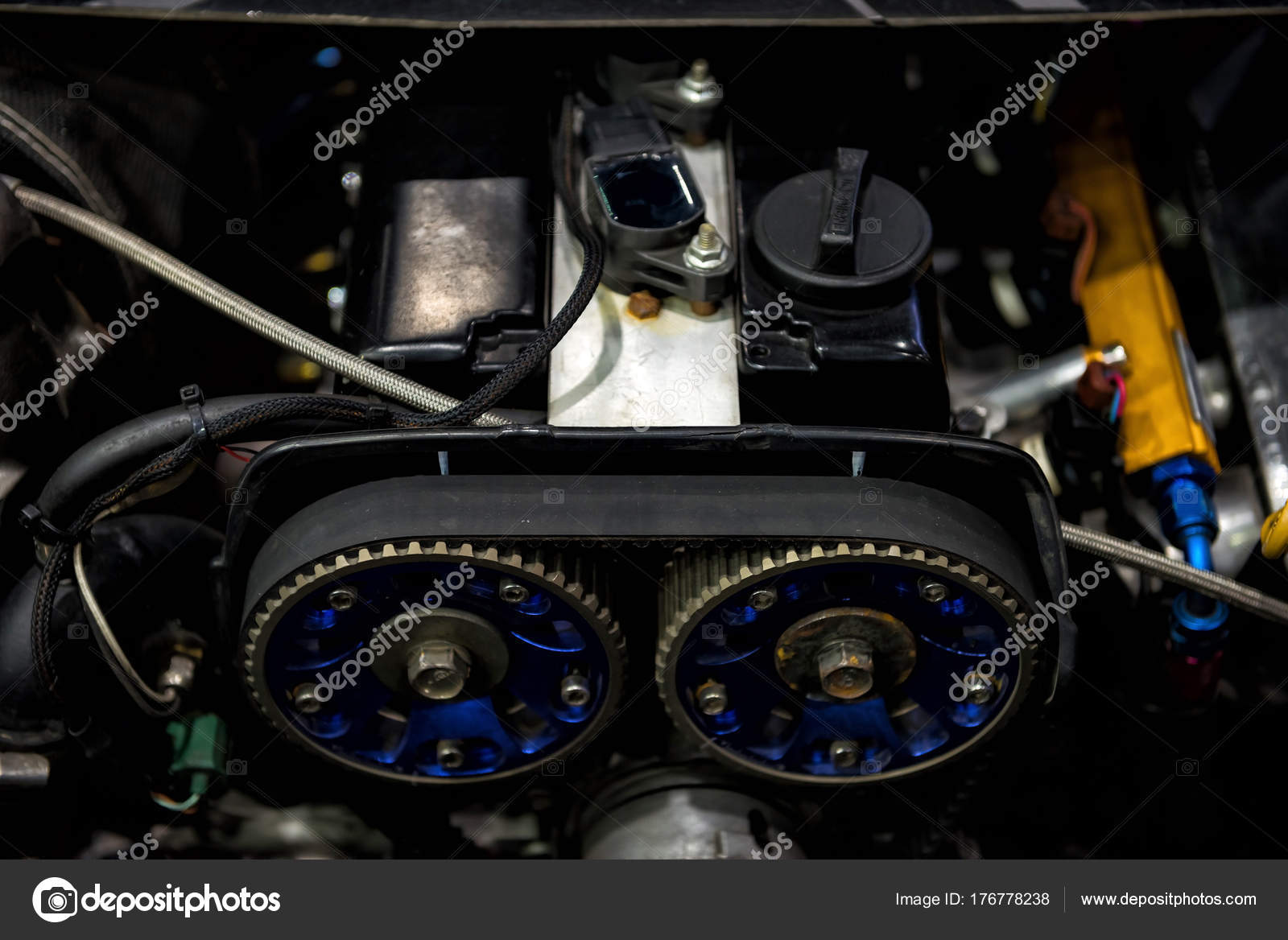 old car engine by top view — Stock Photo © blanscape #176778238