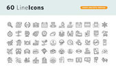 Fotografie Set of premium concept icons for travel and hotel services
