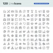 Photo Set of premium concept icons for business, marketing and finance