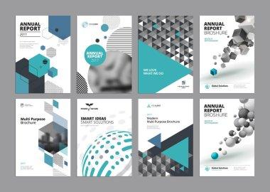 Set of modern business paper design templates