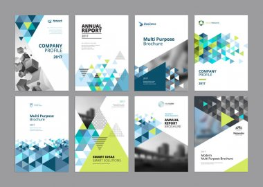 Set of modern business paper design templates