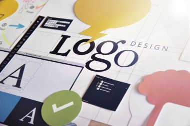 Logo design concept for graphic designers and design agencies services