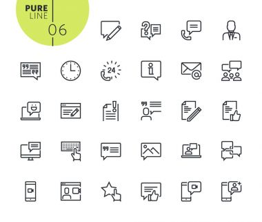 Set of social media and networking icons
