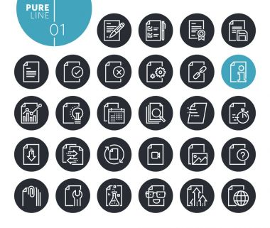 Modern text editing and document formatting line icons set. Vector illustrations for web and app design and development. Premium quality outline web symbols