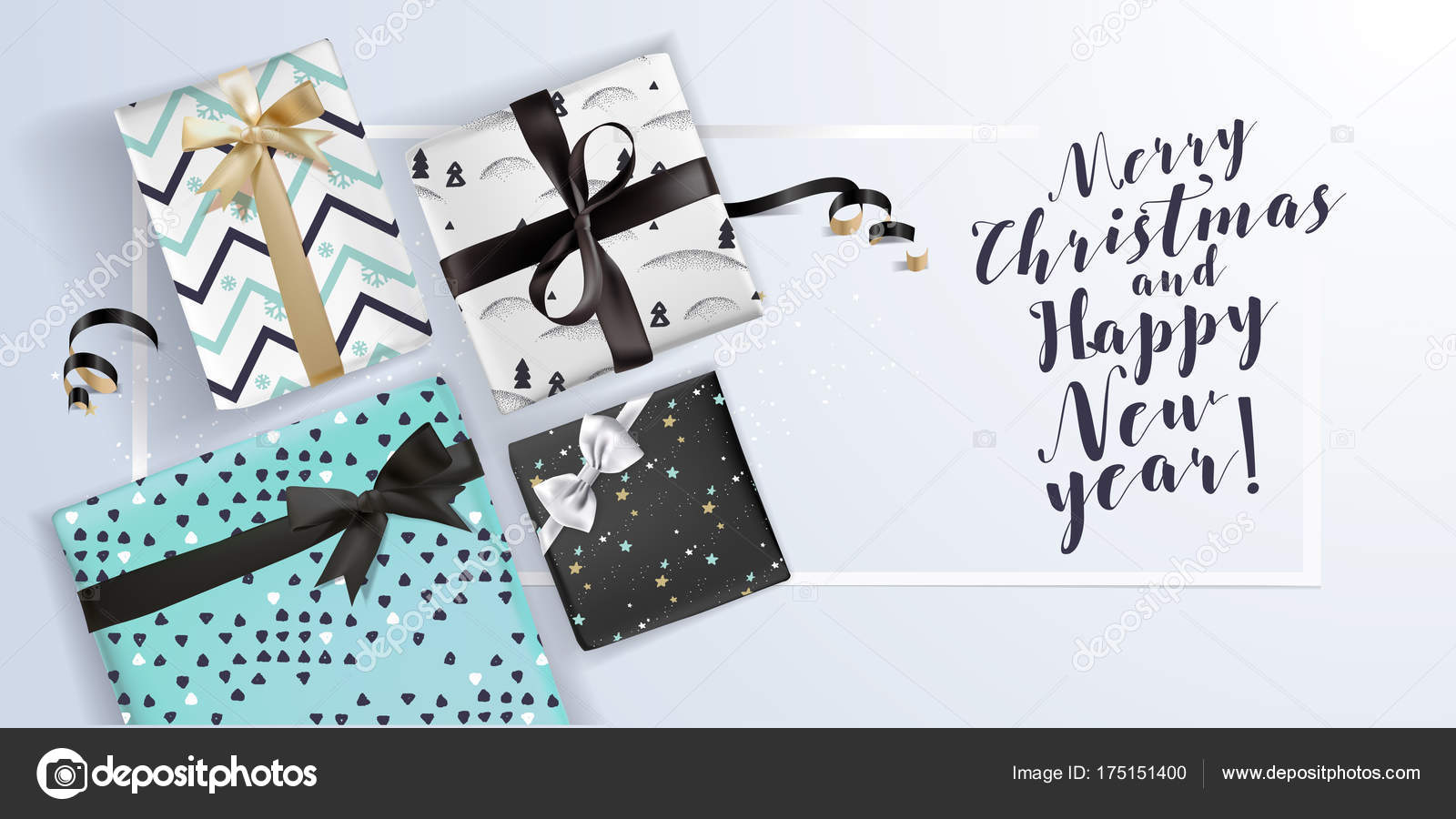 Christmas new year greeting card vector illustration concept christmas and new year greeting card vector illustration concept for greeting cards website and mobile banners marketing material vector by variant m4hsunfo