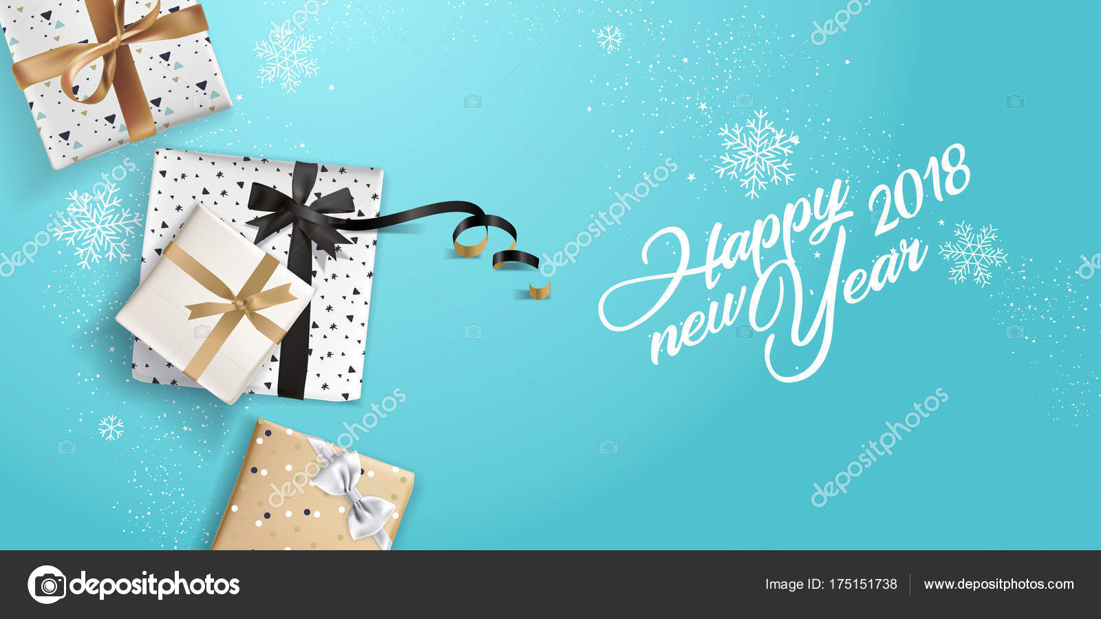 new year greeting card vector illustration concept greeting cards