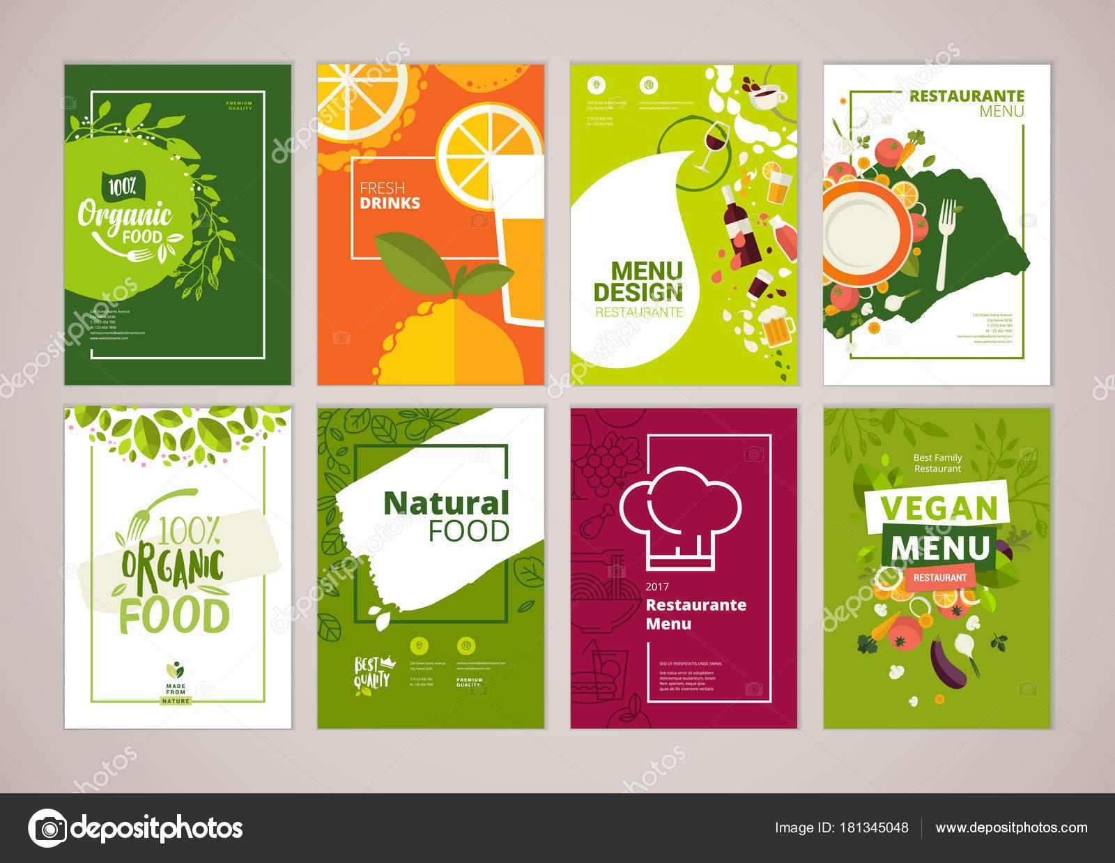Sistema Del Menú Del Restaurante Folleto Plantillas Diseño Folleto ...