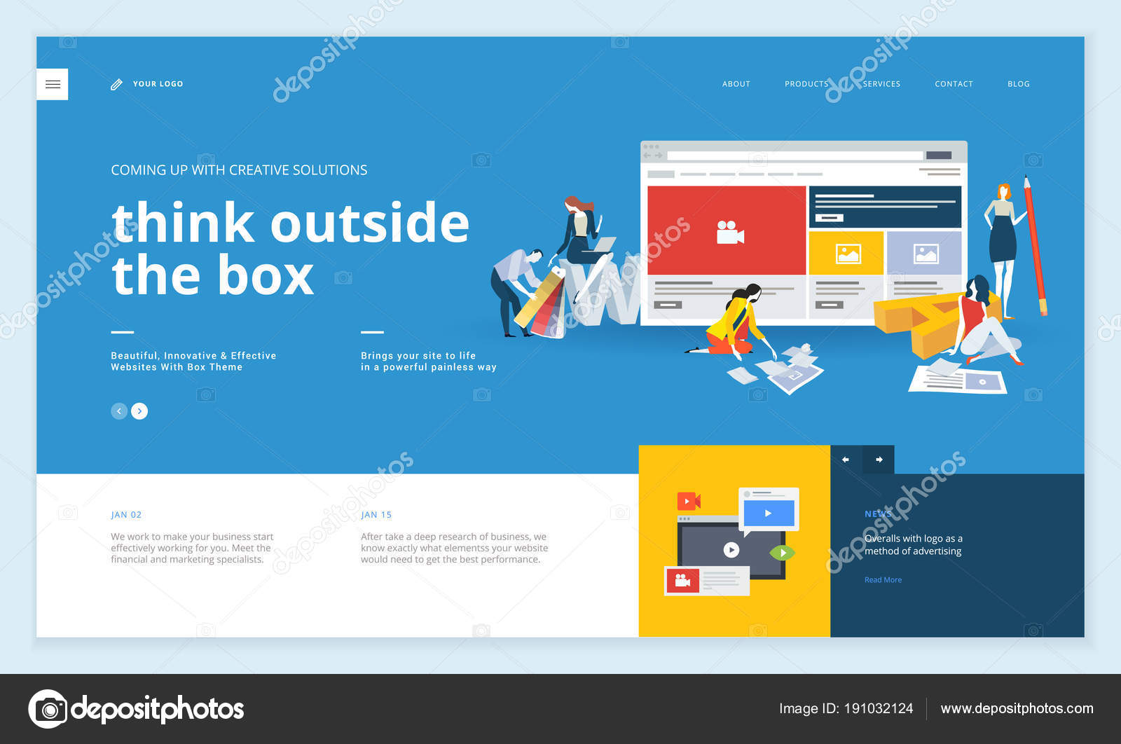 creative website template design vector illustration concept web