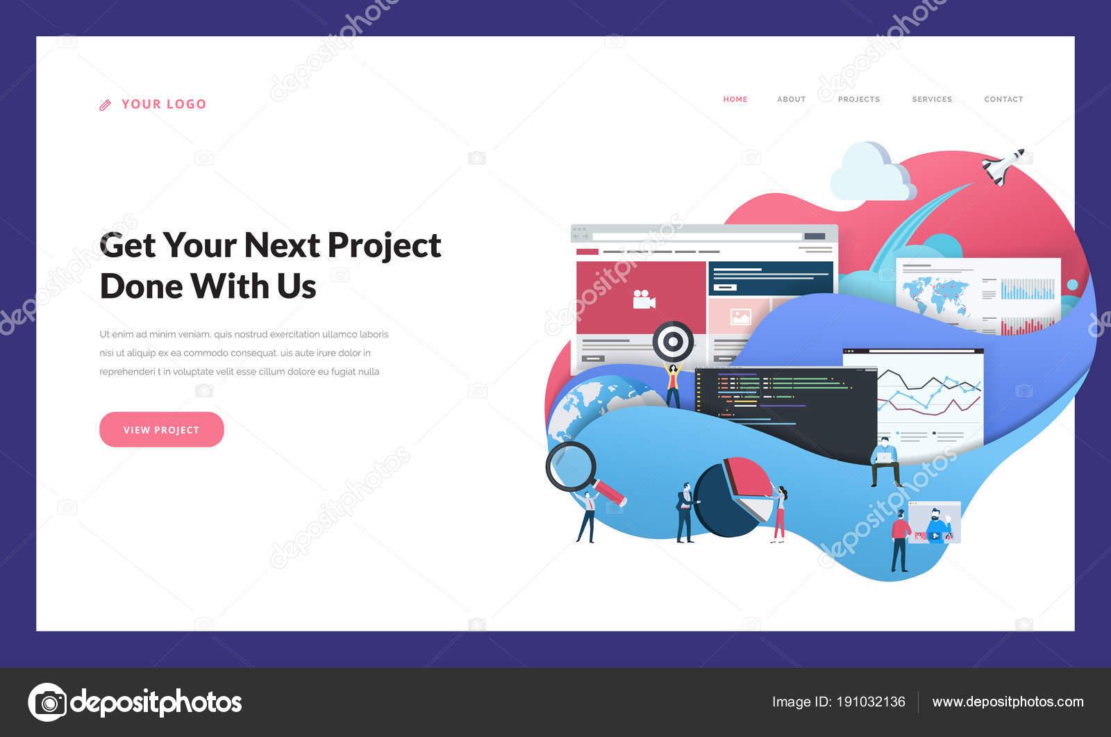 creative website template design vector illustration concept web