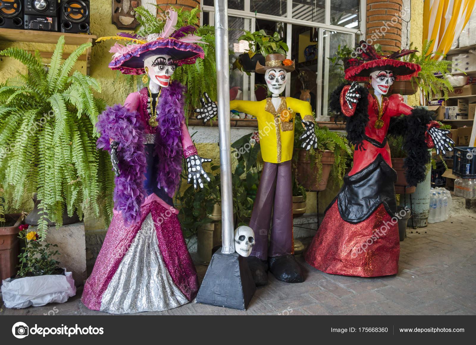 Oaxaca Oaxaca México Octubre 2017 Calaveras Vestidas Como