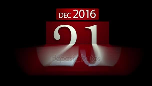 Odpočítávání kalendář na nový rok 2017 s alfa maskou