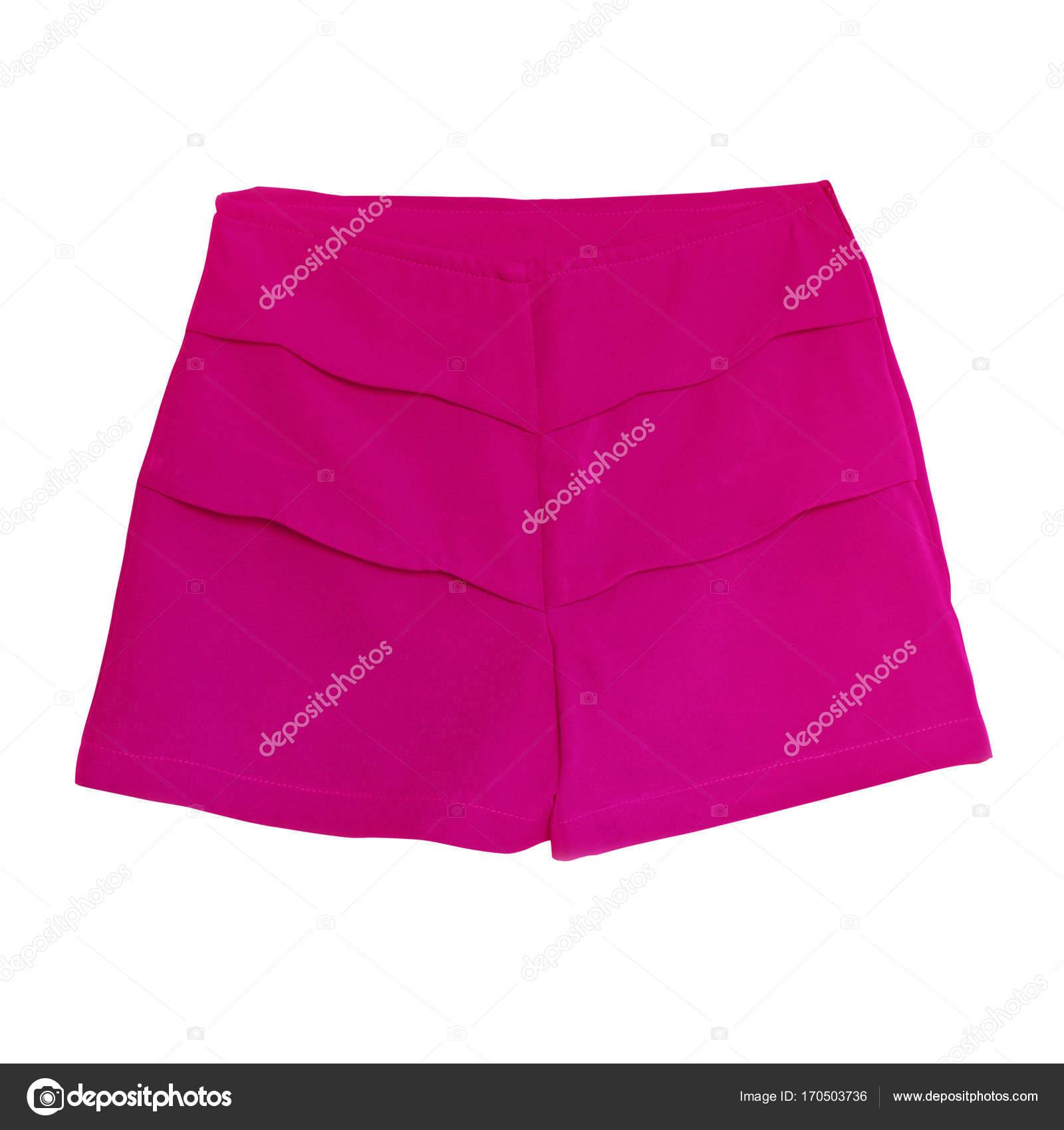 Pantalón Trabajo Blanco Con Pinkk Corto Mujer Aislado Sobre Fondo mNn0wvyOP8