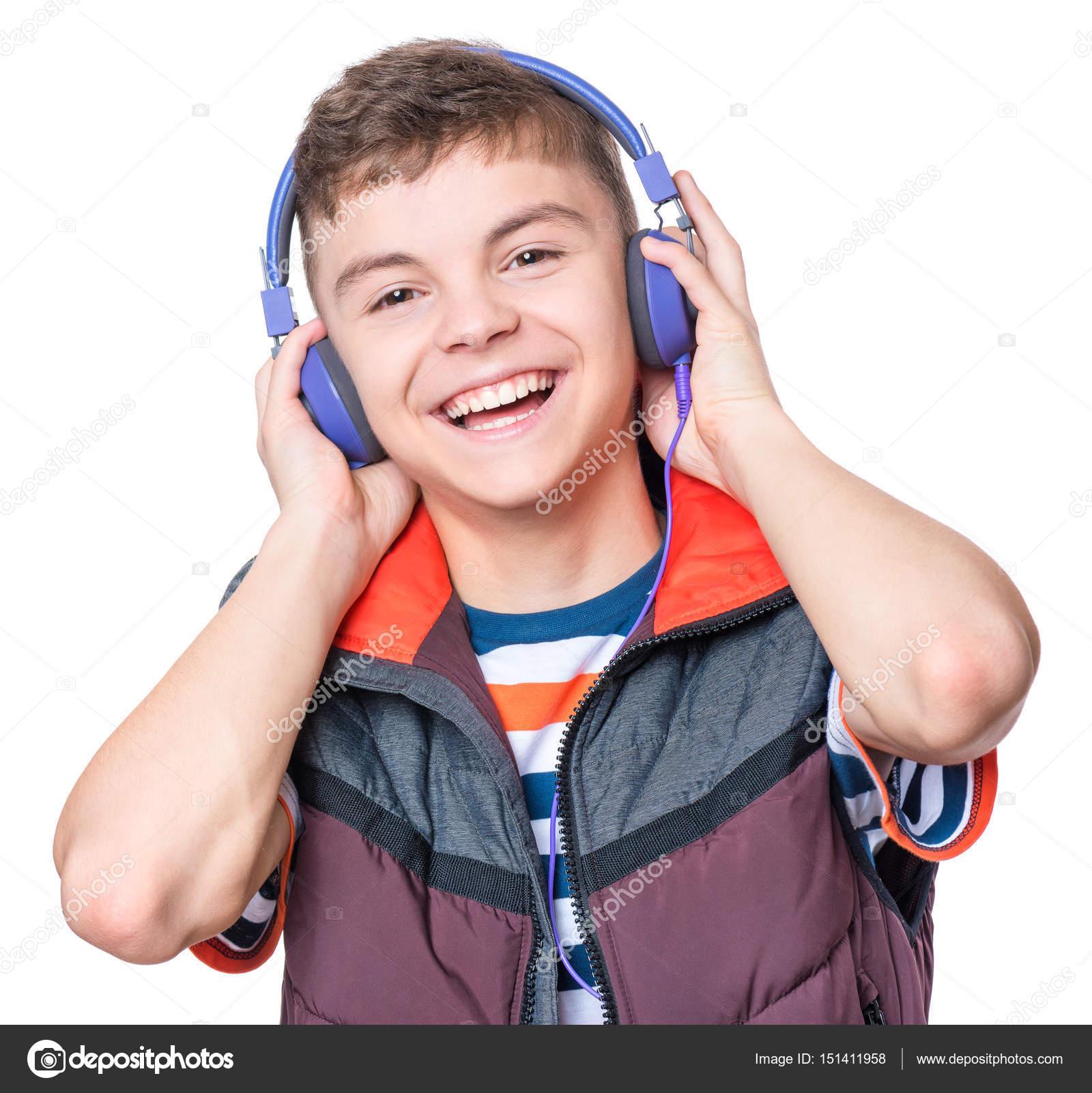 Fotos Chicos De 15 Años Niño Adolescente Con Auriculares Foto